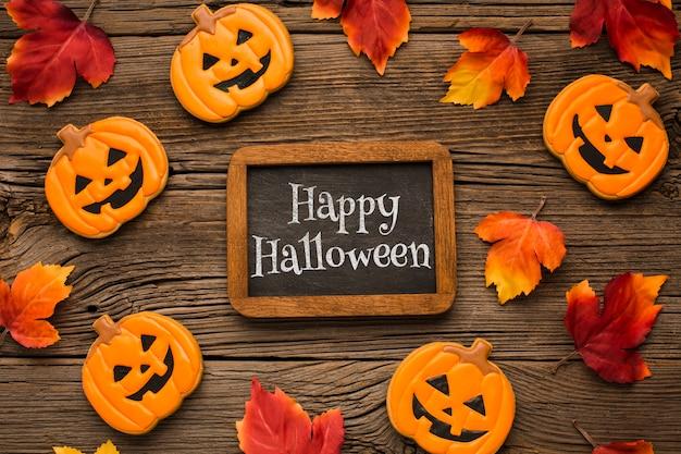 Cornice e lavagna per il giorno di halloween Psd Gratuite