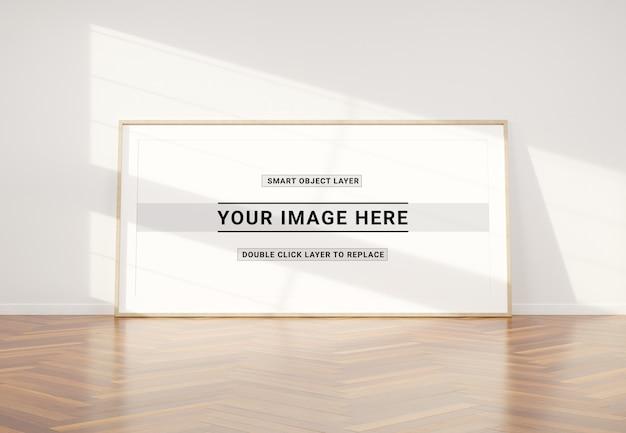Cornice panoramica posa a parete mockup Psd Premium