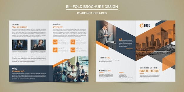 Corporate business bi fold brochure sjabloon Premium Psd
