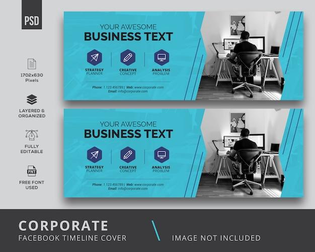 Corporate facebook-omslag Premium Psd