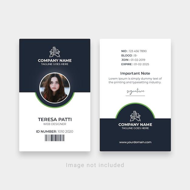 Corporate office id-kaartsjabloon Premium Psd