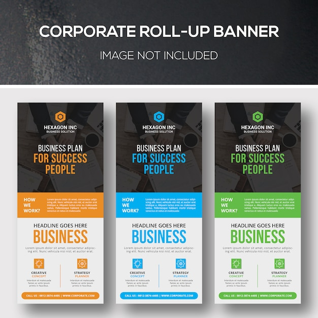 Corporate roll up banner Premium Psd
