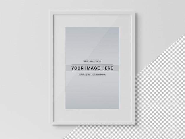 Cortar la maqueta rectangular de marco negro PSD Premium