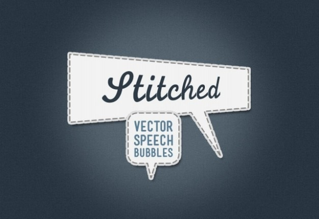 cosidos burbujas vector de voz Psd Gratis