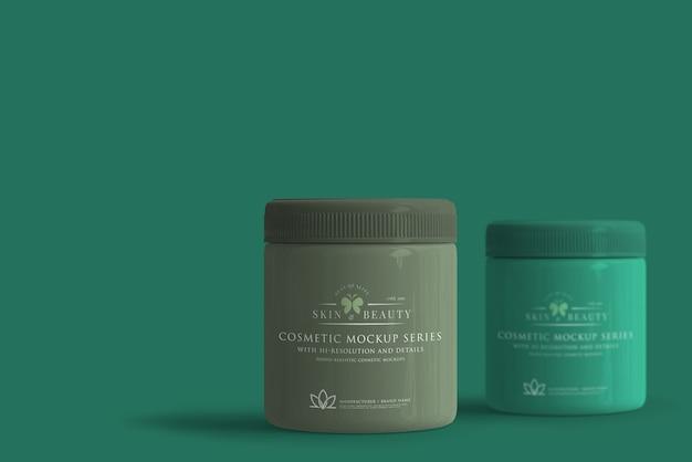 Cosmetic jar mockup Premium Psd