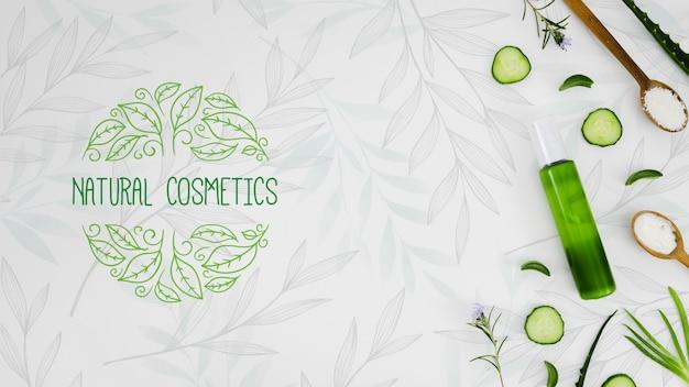 Cosmética natural con aceite orgánico. PSD gratuito