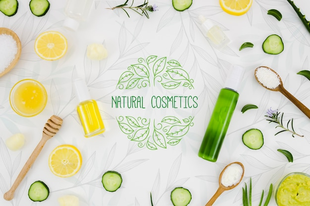 Cosmética natural con vitaminas. PSD gratuito