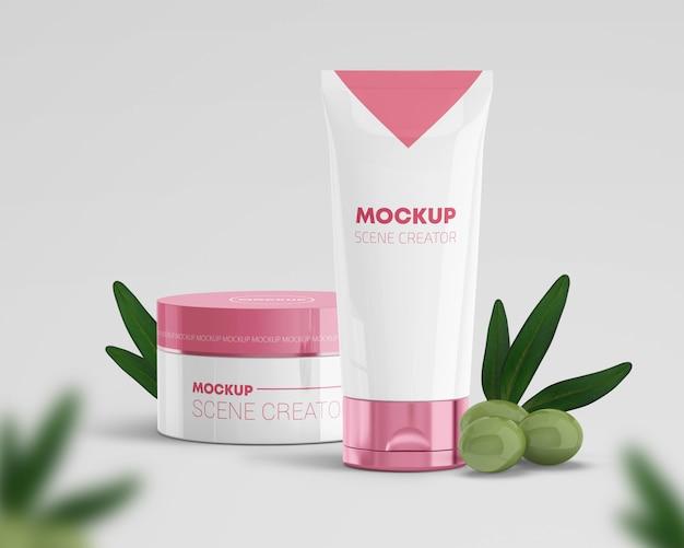Cosmetica scènemaker met olijven Premium Psd