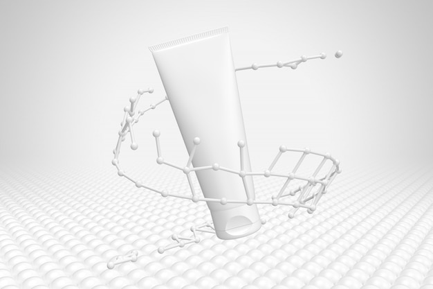 Cosmetica verpakking mockup molecuul Premium Psd