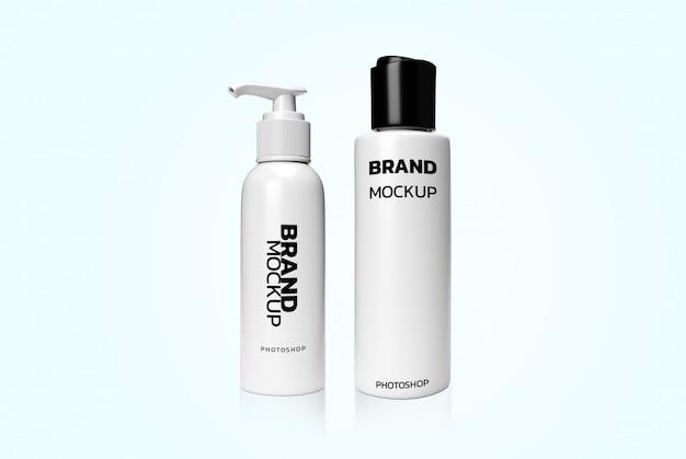 Cosmetici 3d che rende modello realistico Psd Premium