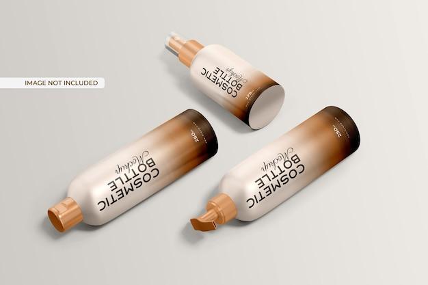Cosmetische fles mockup Gratis Psd