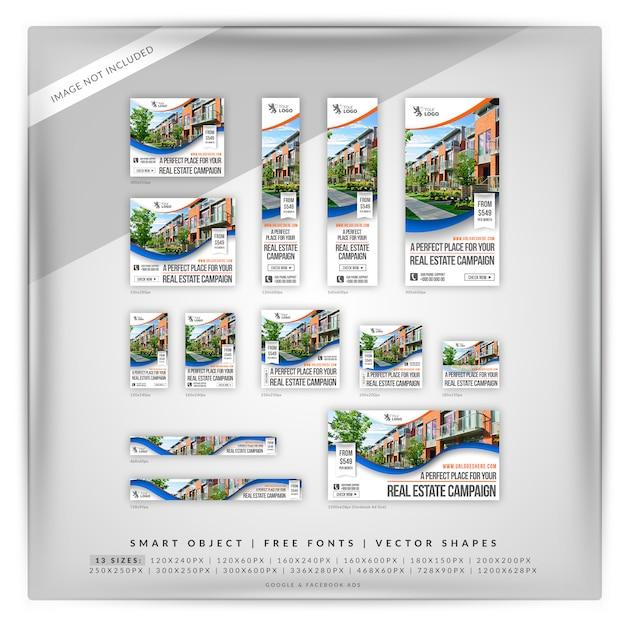Courly real estate google y anuncios de facebook PSD Premium