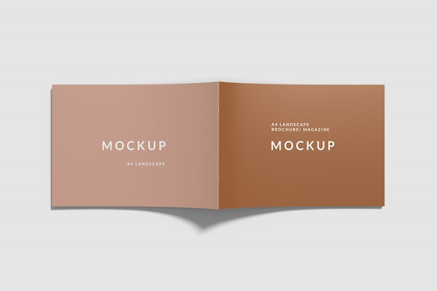 Cover landschap boek mockup top view Premium Psd