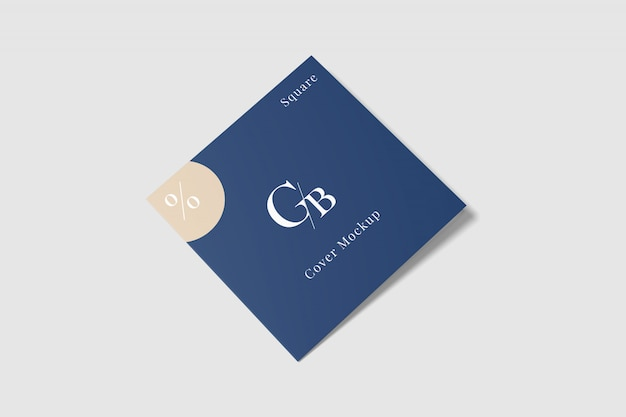 Cover square brochure mockup Premium Psd