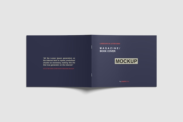 Cover tijdschrift mockup Premium Psd