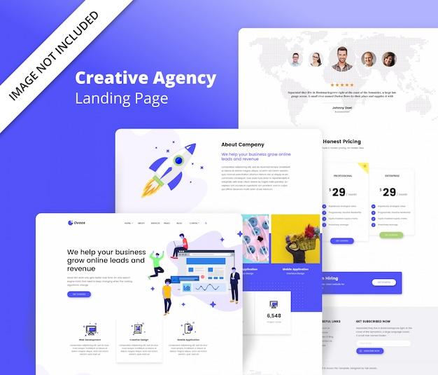 Creatief agentschap bestemmingspagina sjabloon Premium Psd