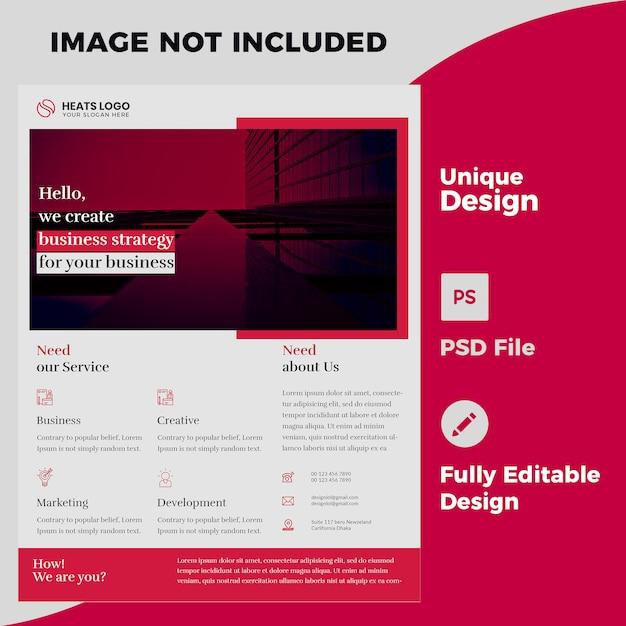 Creatief bedrijf flyer ontwerp psd-sjabloon Premium Psd