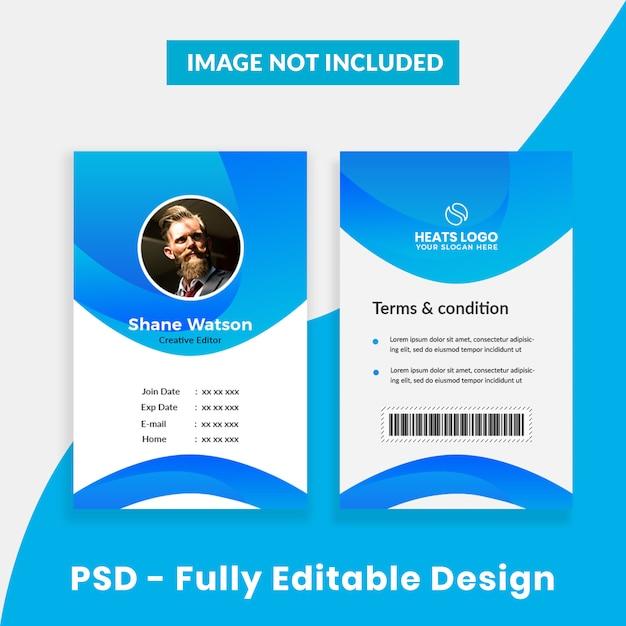 Creatief bedrijf id-kaartsjabloon Premium Psd