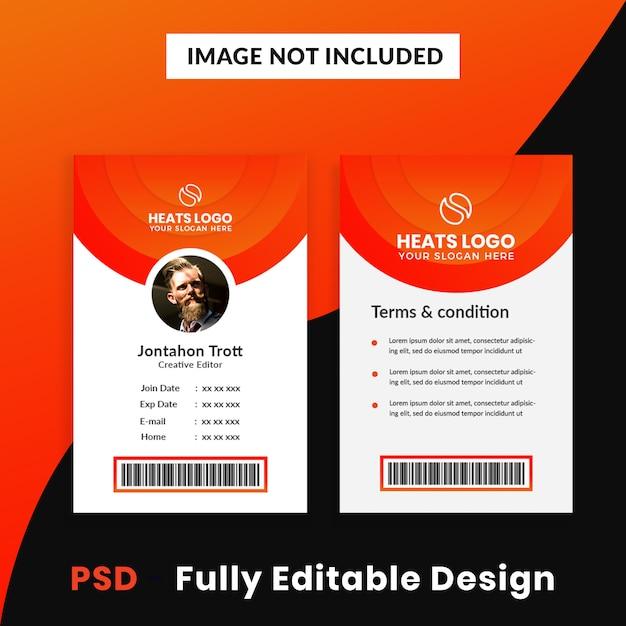 Creatief bedrijfsidentiteitskaart-sjabloon Premium Psd