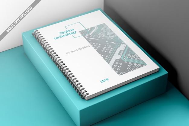Creatief spiraalvormig boekbindend mockup Premium Psd