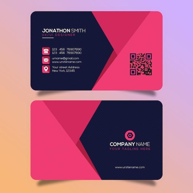 Creatief visitekaartjeontwerp Premium Psd