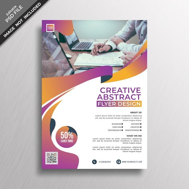 Creatieve abstracte sjabloon folder Premium Psd