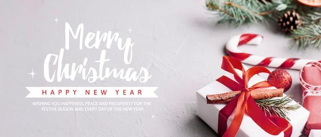 Creatieve kerstfeest sjabloon voor spandoek Gratis Psd
