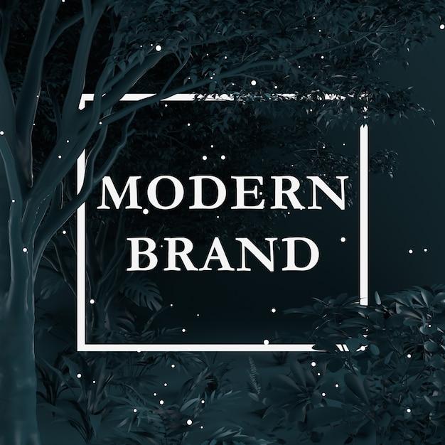 Creatieve lay-out zwarte kleur gemaakt van bomen en planten met papieren kaart. natuur concept. Premium Psd