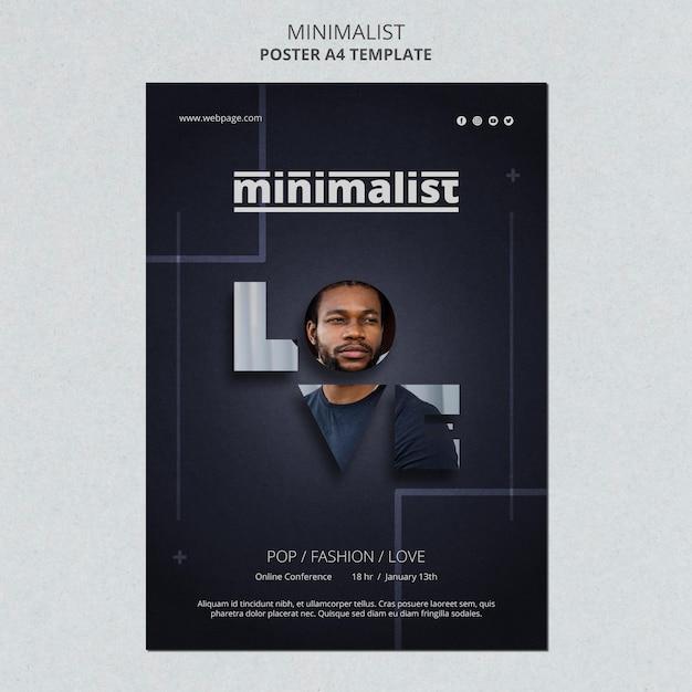 Creatieve minimalistische flyer-sjabloon Gratis Psd