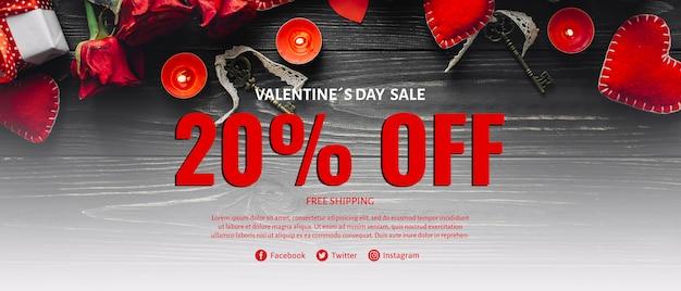 Creatieve valentines verkoop mockup Gratis Psd