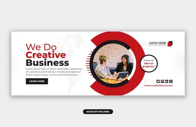 Creatieve zakelijke marketing facebook cover banner ontwerpsjabloon Premium Psd