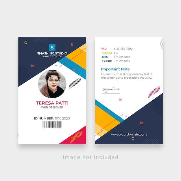 Creative office id-kaartsjabloon Premium Psd