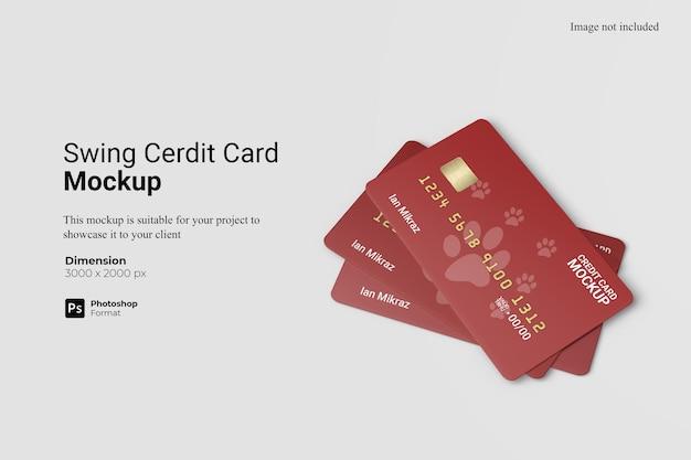 Creditcard mockup design geïsoleerd Premium Psd