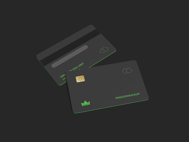 Creditcard mockup-ontwerp in 3d-rendering Premium Psd