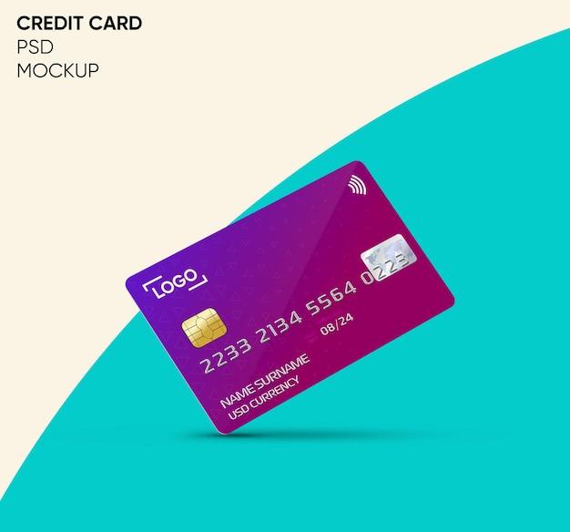 Creditcard mockup-ontwerp Premium Psd