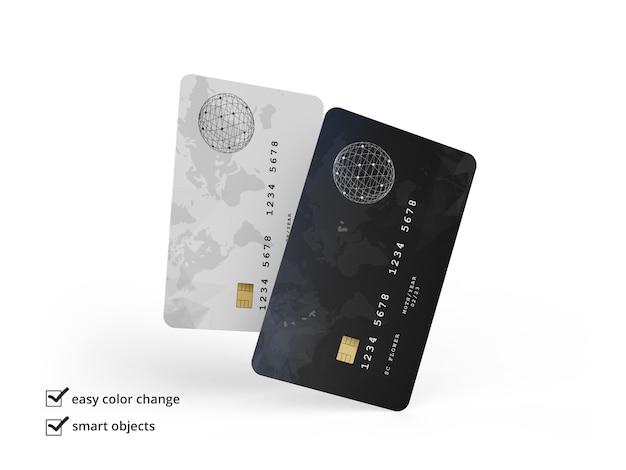 Creditcardmodel geïsoleerd Premium Psd