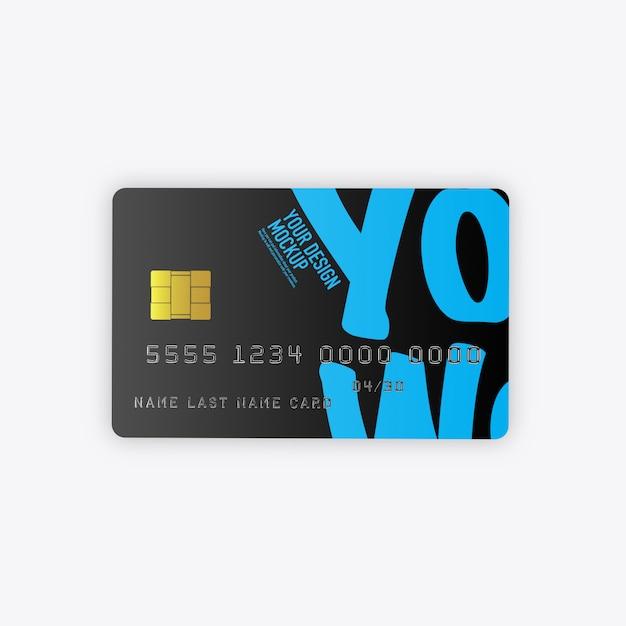 Creditcards mockup geïsoleerd Premium Psd