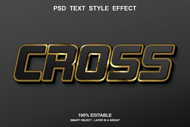 Cross-text effect Premium Psd