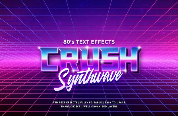 Crush effetto testo retrò anni '80 Psd Premium