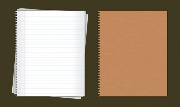 Cuaderno de papel forrado en psd PSD gratuito