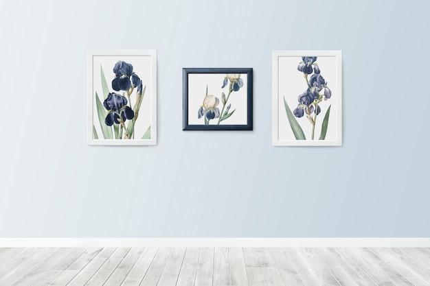 Cuadros florales en marcos. PSD gratuito