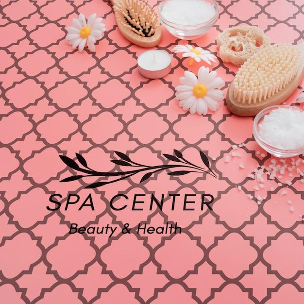 Cuidado de la belleza y proceso de lavado en el spa. PSD gratuito