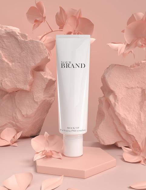 Cuidado de la piel hidratante cosmética productos premium PSD Premium
