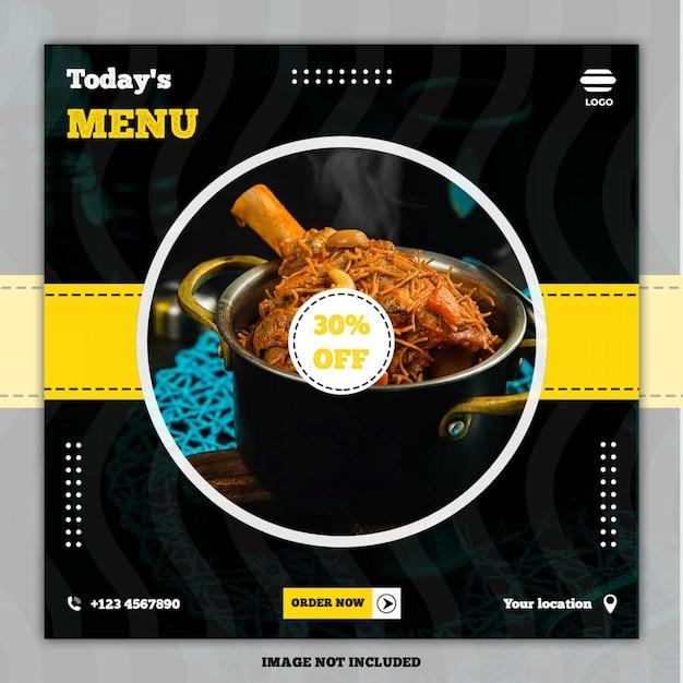 Culinair menu menu banner social media post Premium Psd