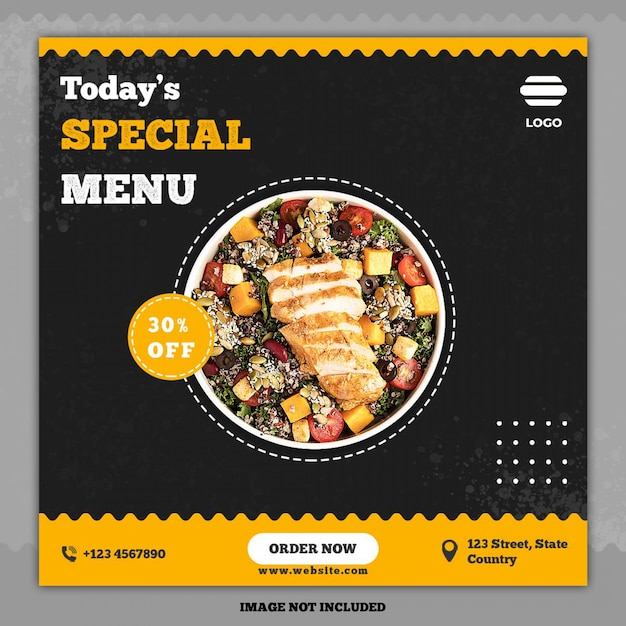 Culinaire social media post sjabloon banner Premium Psd