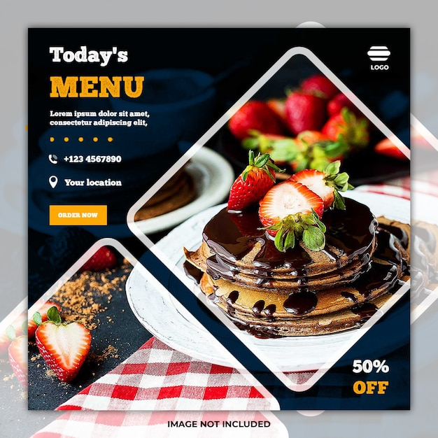 Culinaire voedsel sociale media postbanner Premium Psd