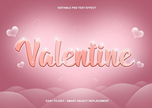 Cuore di effetto testo di san valentino Psd Premium