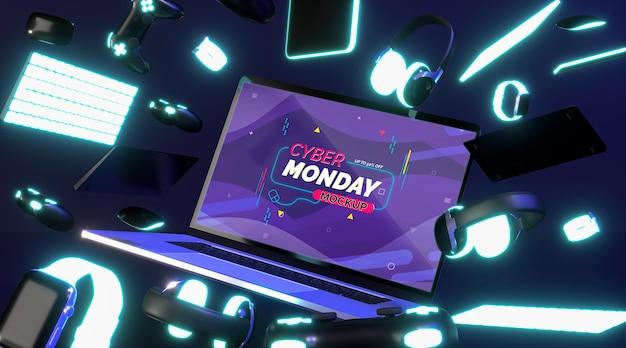 Cyber maandag verkoop mock-up Gratis Psd