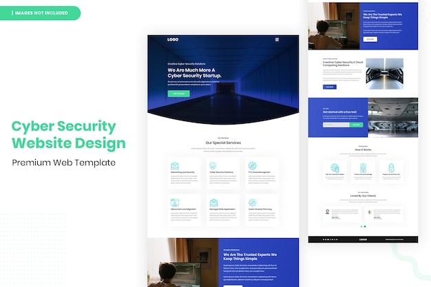 Cyber security website ontwerpsjabloon Premium Psd