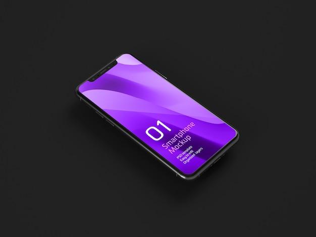Dark mobile device mockup Psd Gratuite